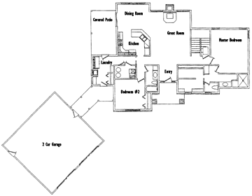 The Angie first floor plan
