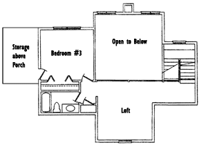 The Angie loft floor plan