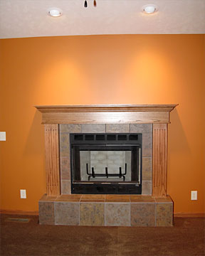 tile fireplace and hearth