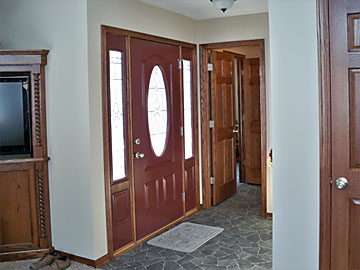 Sutton custom home entry